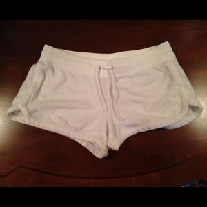 Express Pants - Express - White Terry Cloth Shorts