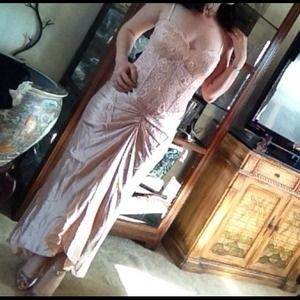 Dresses & Skirts - Dusty pink sheer corset top gown