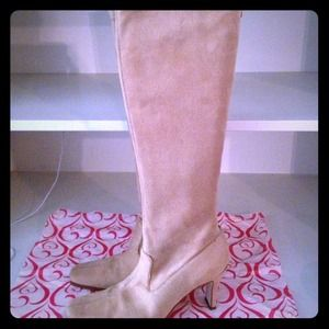 Sam and Libby brown suede knee high boots