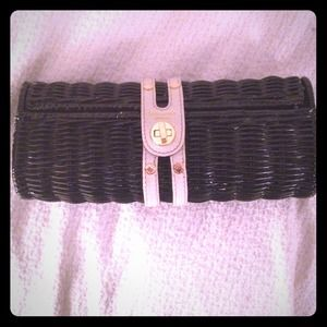 kate spade Clutches & Wallets - Kate spade black wicker clutch