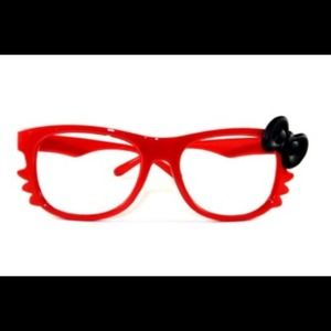 Accessories - Red Hello Kitty Glasses with Black Bow