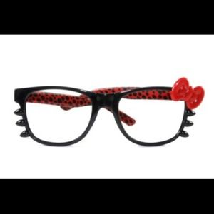 Accessories - Red Leopard Hello Kitty Glasses