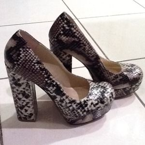 MIA Shoes - **Hold**Brand new snake skin platform heels