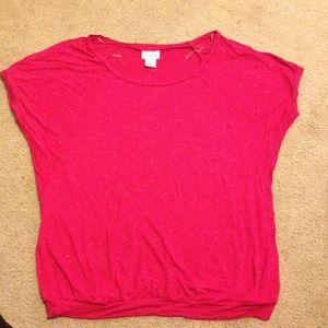 Pink maternity shirt
