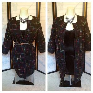 Kenar Outerwear - Vtg Multi-colored Tweed Long Jacket sz 6