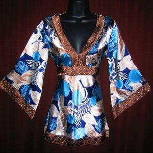 moa moa Tops - Kimono Inspired Tunic