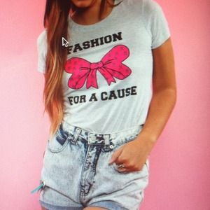 "Tops - Fashion For A Cause Tee with ""studs"""