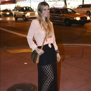 Black sheer Polk dot skirt