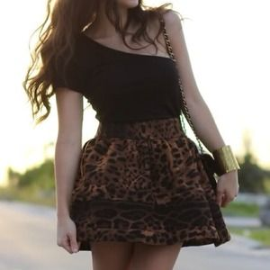 Skirts - Leopard structured skirt 2