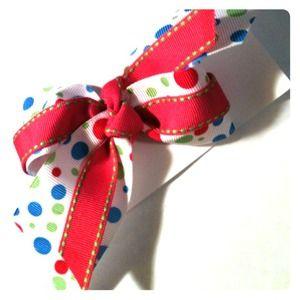 Polka dot bow!