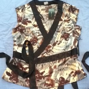 BCBG Silky Kimono Top