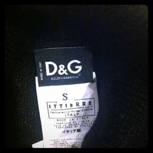 D&G Black Sweater with designed cut sleeve