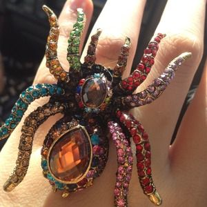 Jewelry - 💗SOLD! Bling Spider Ring