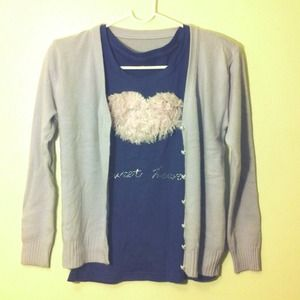 Jackets & Blazers - Reduced 💋Grey with a hint of blue cardigan