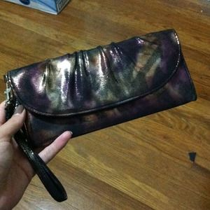 apt 9 Clutches & Wallets - Reserved Purple, gold & black wristlets