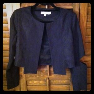Cropped jacket with elbow cut-outs