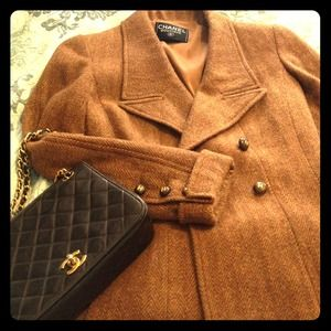Authentic Chanel brown tweed blazer