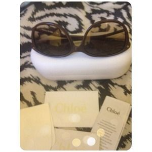 Chloe Accessories - 💦SOLD💦 Authentic New Chloé Sunnies🔲Chocolate