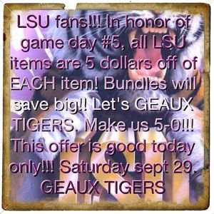 Other - 🐯🐯💜💜💜LSU SALE!!🐯🐯💜💜