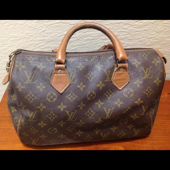 Louis Vuitton Handbags - Reserved...FRENCH VINTAGE LOUIS VUITTON SPEEDY BAG b028d375a1d2b