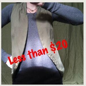 Zara Olive Vest