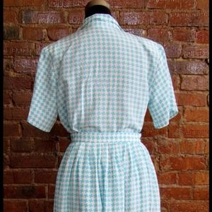 Skirts - HALF OFF SALE | Vintage Houndstooth Skirt & Top