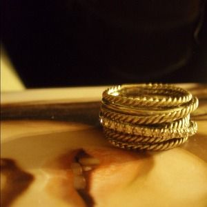 David Yurman Jewelry - David Yurman Crossover Pave Diamond Ring 4