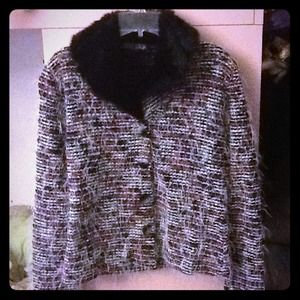 Jackets & Blazers - Vintage Paris Shag Fringe Fur Trim Jacket