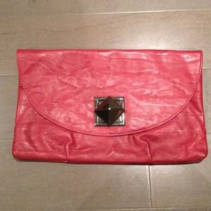 Clutches & Wallets - ⬇REDUCED Red clutch w/ optional chain strap
