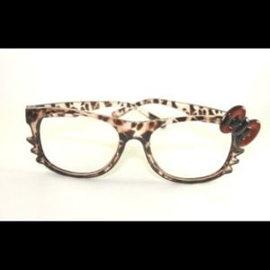 Accessories - Leopard Hello Kitty Glasses Frame