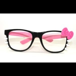 Accessories - Pink/Black Hello Kitty Glasses