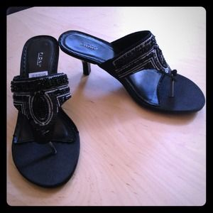 Fiona Shoes - 🌟Bundled🌟NWT Black Sequin Thong, SM Clogs&Pumps