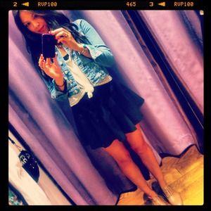 BUNDLE @katalinaskats mini skirt & Floral h&m top