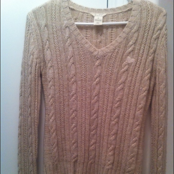 Roxy Sweaters - 🚩SOLD Oatmeal cropped cable knit sweater 2