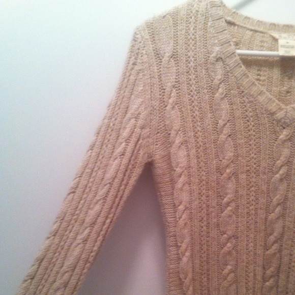 Roxy Sweaters - 🚩SOLD Oatmeal cropped cable knit sweater 3