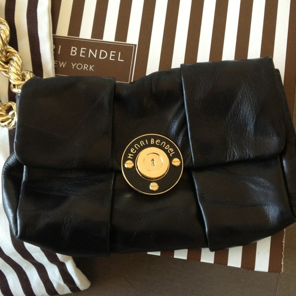 Henri Bendel Handbags - Henri Bendel black leather wristlet clutch 2