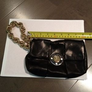 Henri Bendel Bags - Henri Bendel black leather wristlet clutch