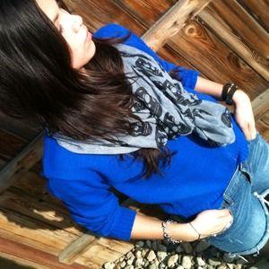 Cobalt blue vintage sweater