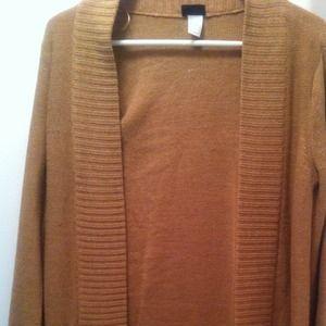 HOLD @sugarhoney H&M Camel long cardigan knit