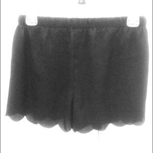 HOLD for @tatianakfactor Black Scallop Shorts