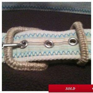 Accessories - Super Cute Blue & Tan Belt