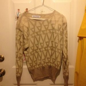 Tops - Mary Ann restivo sweater gold and beige