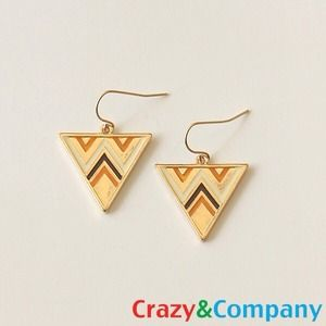 Crazy & Co. Jewelry - Bundle: Chevron Custard & Pink Popsicle Earrings