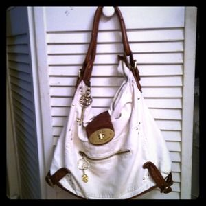 D&G White Leather Purse.
