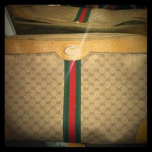 Gucci Handbags - VintageGucciCanvas/Leather.