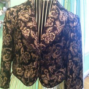 Brocade cropped jacket