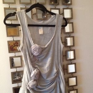 Anthropologie top with floral sleeveless