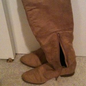 FINAL REDUCTION!!!  faux suede over the knee boots