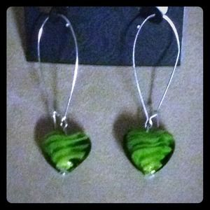 Jewelry - 💚 Glassy Earrings