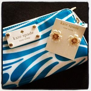 kate spade Accessories - Kate Spade Flower Earrings White